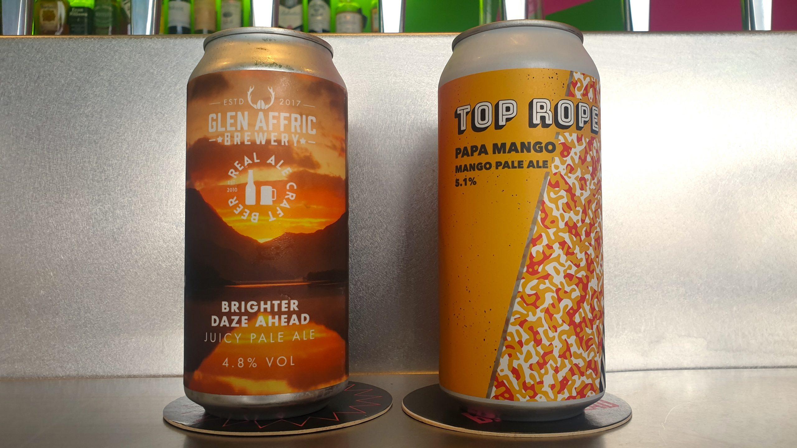 Glen Affric Top Rope beer tasting at Future Yard