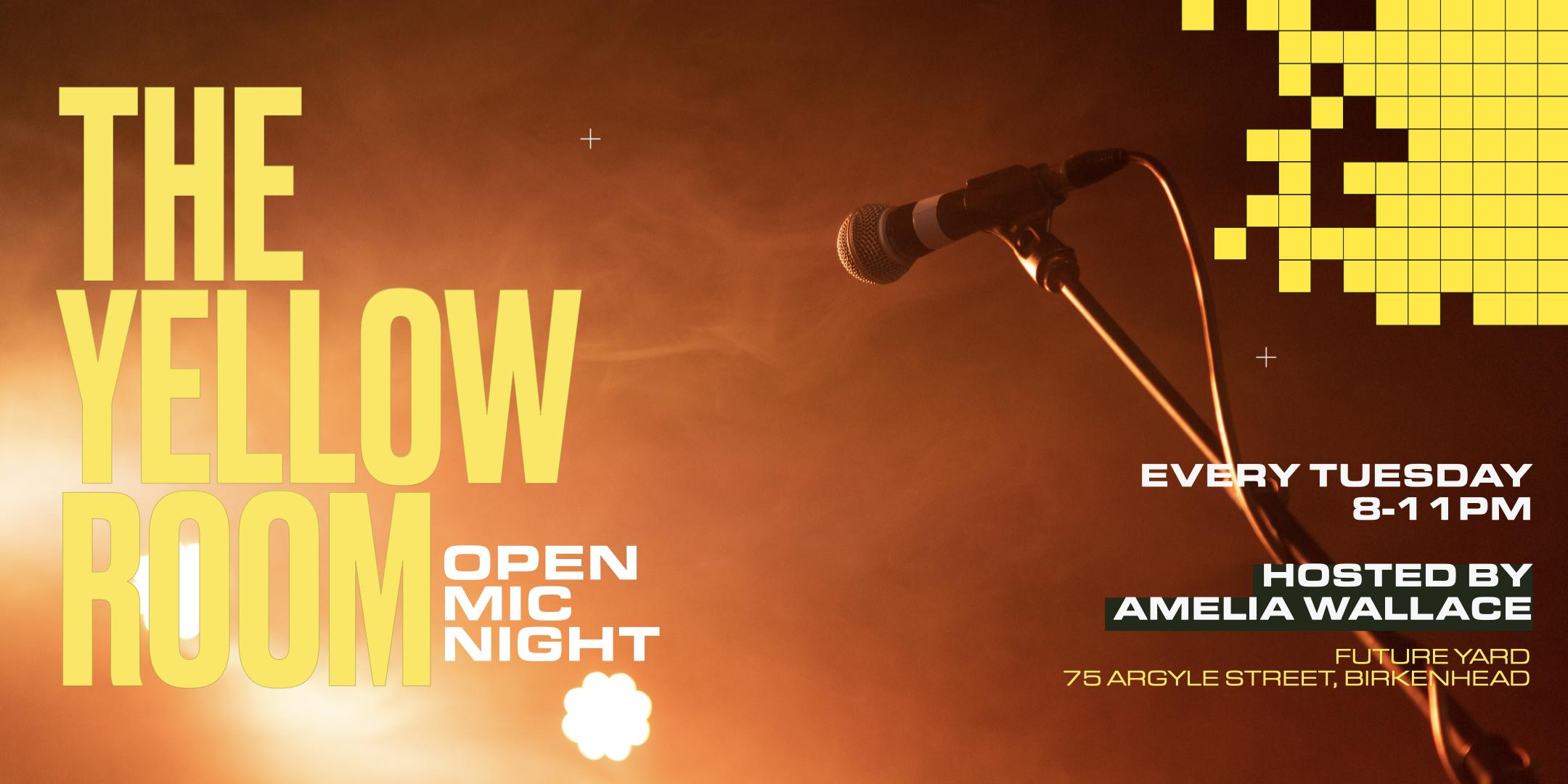 Open mic night at Future Yard